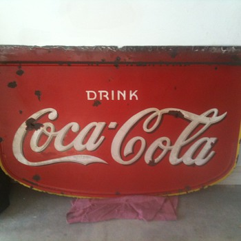 1930&#039;s Coke Porcelain Side - Double Sided - Coca-Cola