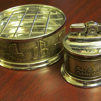 Prudential Sales Leader Lighter & Ashtray Award - 62' - Tobacciana