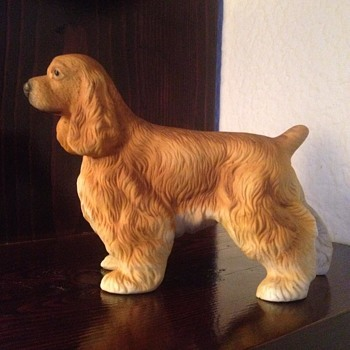 Bisque porcelain cocker spaniel