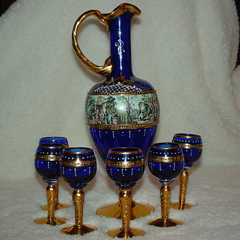 Ewer with six cordials Pt 1 - Glassware