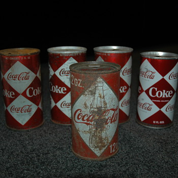 Diamond and harlequin cans  - Coca-Cola
