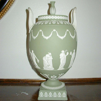 Green and White Wedgwood Jasperware - China and Dinnerware