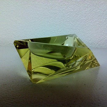 MCM Murano Mandruzzato Triangular Multi Faceted Ashtray - Art Glass