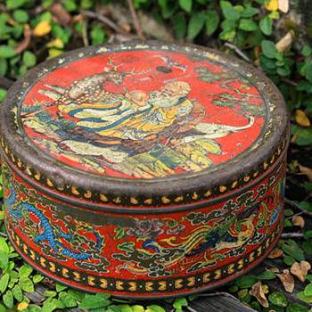 Vintage Chinese-Thai Sweets Tin - Advertising
