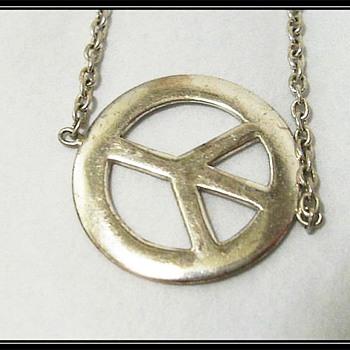 A Sterling Silver ** PEACE ** Bracelet