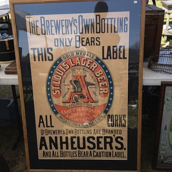 One of the oldest Anheuser Busch posters - Breweriana