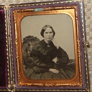 Geo S. Cook Charleston SC ambrotype of woman  - Photographs