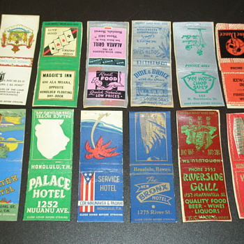 ww2 Match Book Covers Honolulu, TH