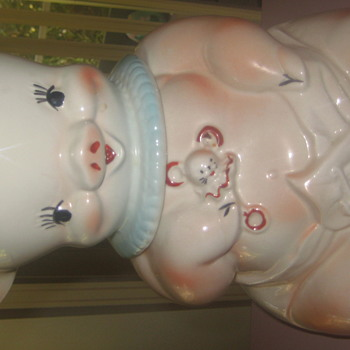 Diaper pig cookie jar