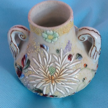 Oriental two handled vase