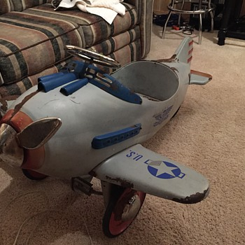 1941 Steelcraft Pursuit Pedal Plane - Toys
