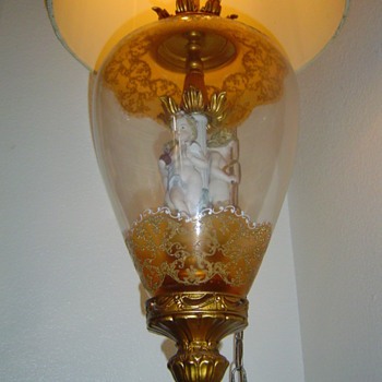 Vintage Swag Hanging Cherub Lamp