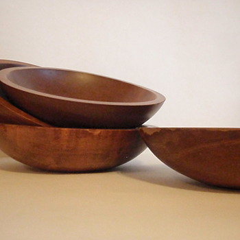 Baribocraft Oblong Wooden Salad Bowls