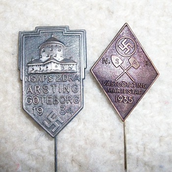 1930&#039;s Swedish Pins - Military and Wartime