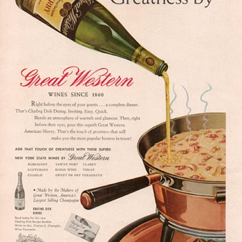 1954 Great Western Sherry Advertisement - Advertising