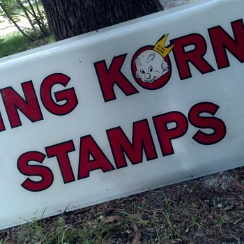 King Korn Stamps vintage sign - Signs