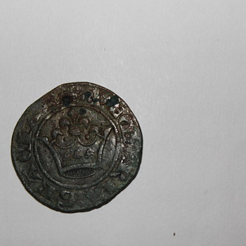 Old coin or token Crown and cross? or design