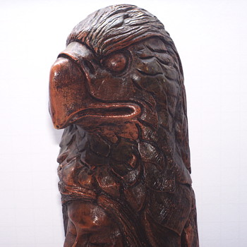 "Thomas B Maracle, Carving post 3 of 3 ""Eagle Spirit""XX Century"