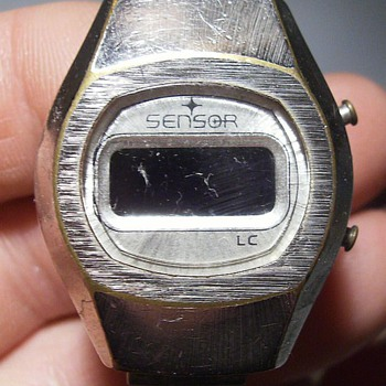 For Kerry:  1970's SENSOR LC Digital Watch - Wristwatches