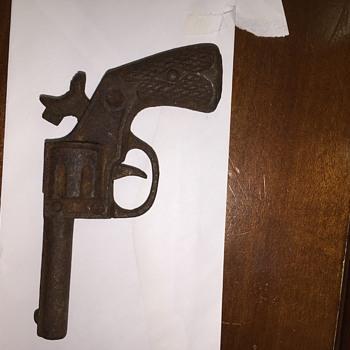 Old Metal Cap Gun Unknown MFG or Era - Toys