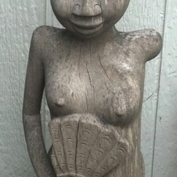 Large heavy wood Sculpture  - Folk Art