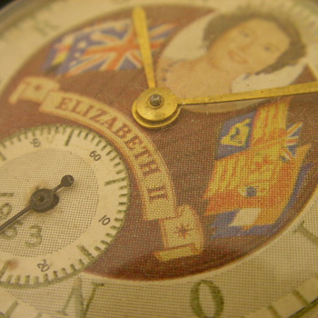 1953 Queen Elizabeth II Coronation Pocket Watch - No. 1