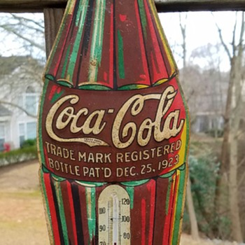 Another Christmas Bottle Thermometer! Produced in 1935 - Coca-Cola