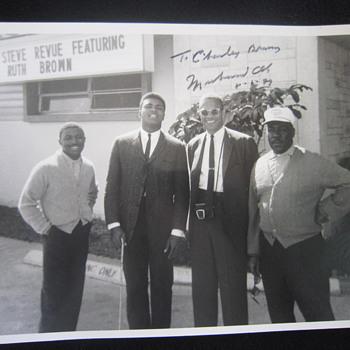 1964 Original Muhammad Ali Cassius Clay Malcolm X Greg Eaton Miami FL Autographed Photo