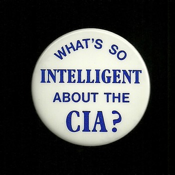 """Rare Abbie Hoffman """"What's so intelligent about the CIA"""" Pinback Button - Medals Pins and Badges"""