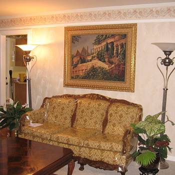 Sofa and 2 chairs over 60yrs old still looks great would love to it's Victorian or what? - Furniture