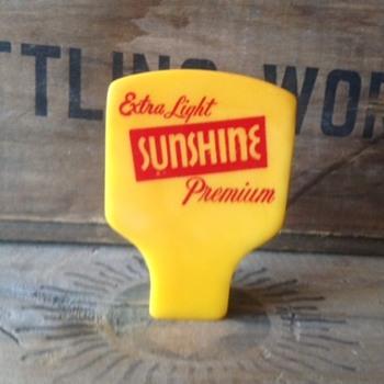 Yellow Sunshine Beer Tap