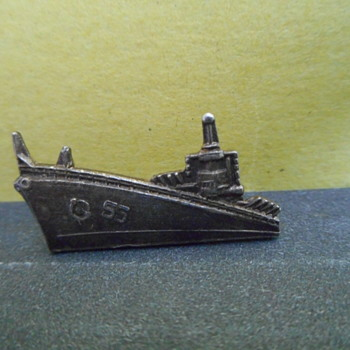 Navy ship Lapel Pin,Submarine?? - Military and Wartime