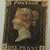 USED - PENNY BLACK - JI - Plate ?
