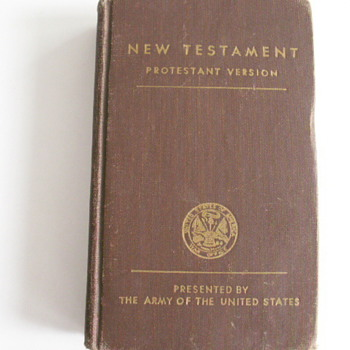 New Testament Presented by The Army Of The United States - Military and Wartime
