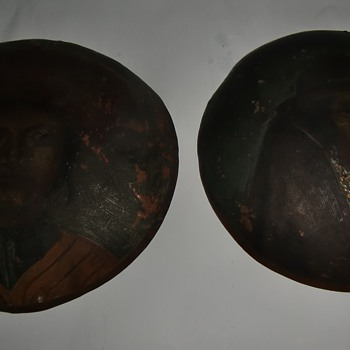 South American Handpainted copper disks?