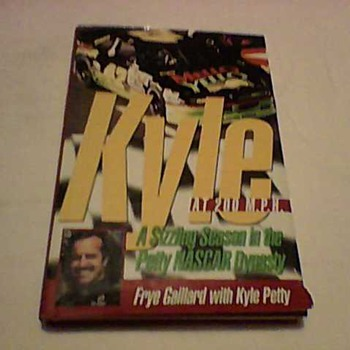 KYLE PETTY AND AUTHOR SIGNED BOOK