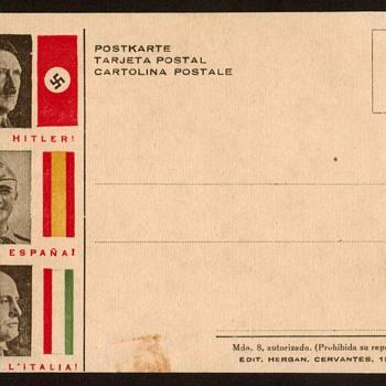 Hitler / Franco / Mussolini - Fascism Postcard