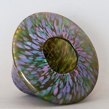 one iridescent vase