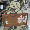 1940&#039;s BEAR ALIGNMENT / BEAR MANUFACTURING Metal Sign / Double Sided