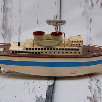 1930's Fleischmann Toy Ship Clockwork