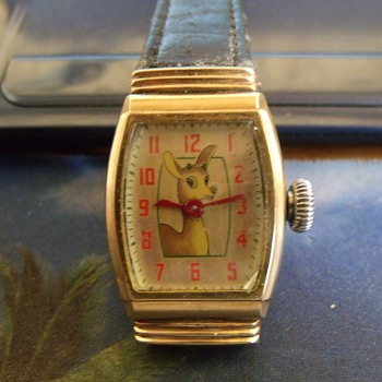 The 1946 Ingraham Rudolph Red Nose Reindeer Watch - Wristwatches