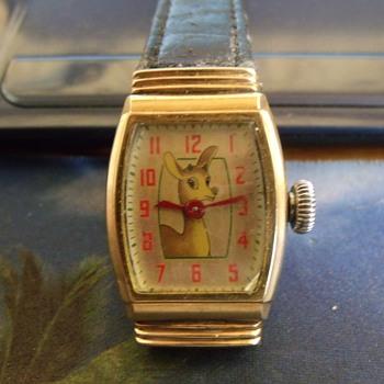 The 1946 Ingraham Rudolph Red Nose Reindeer Watch