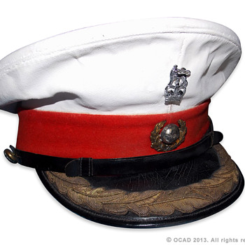 Royal Marine Officer's Visor cap - Military and Wartime