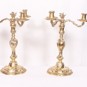 Puiforcat Candelabras, Pattern &quot;Louis XV&quot; (Louis Regnard Paris 1743-1744)