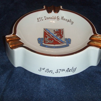3rd BN 37th FA BN Commander Ashtray - Tobacciana