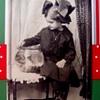 1915 Photo, GIRLIE WITH BIG FISHBOWL,& HUGE HAIR RIBBONS PLEASE ENLARGE 2 TIMES!!