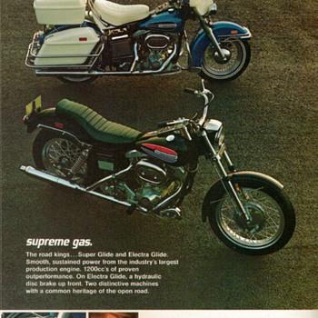 1972 - Harley Davidson Motorcycles Sales Brochure - Paper