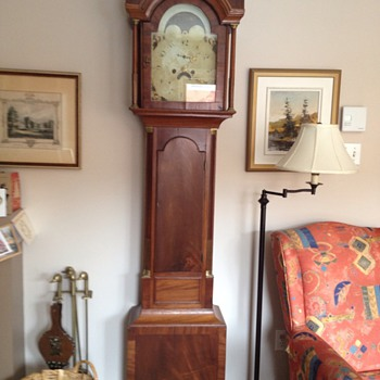 My grandfather clock, circa 1800