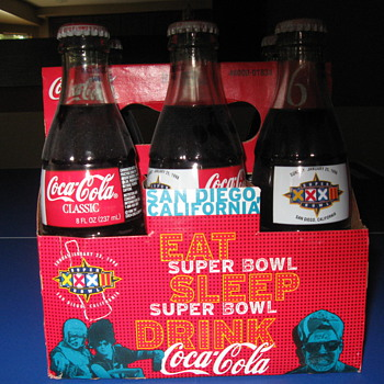 Coke Cola Super Bowl XXXII  Six Pack