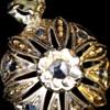 Victorian Gold Rose Cut diamond earrings